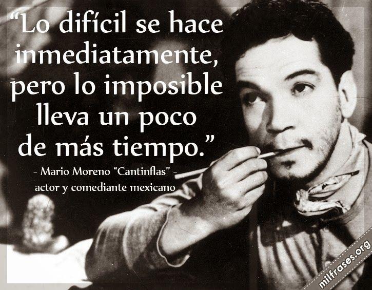 Pocos saben que Mario Moreno Cantinflas además de ser un excelente cómico era también un gran pensador y un crítico incansable del sistema políti...