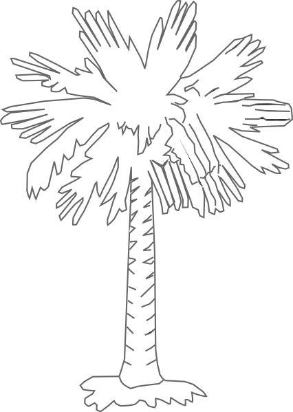 South Carolina Palmetto Logo Palmetto Tree Clear Clip