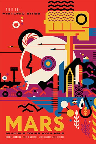 Free Mars travel poster from JPL!! Would be cool inspiration for students to create their own!