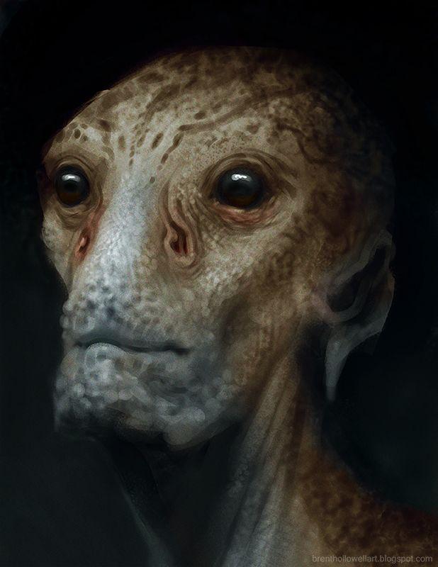 Brent's Sketchblog: alien dude
