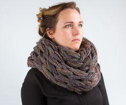 Вязаный шарф-снуд - | Леонардо хобби-гипермаркет - сделай своими руками