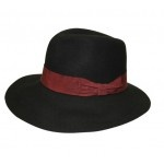 $49.95 Black and Plum Wide Brimmed Fedora  free shipping within Australia at sterlingandhyde.com.au