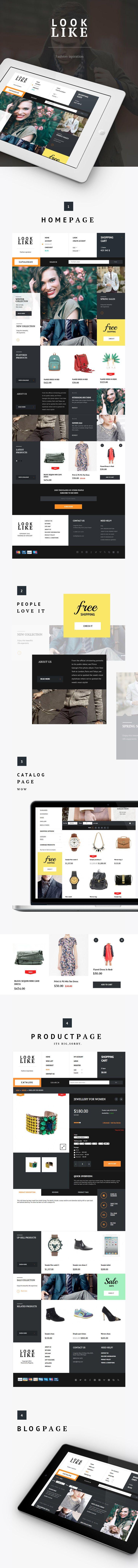 LOOKLIKE design // Ann Tereschenko http://www.webdesignserved.com/gallery/LOOKLIKE/12671199