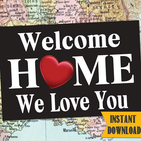 INSTANT DOWNLOAD Welcome Home BANNER / LDSHomecoming Poster / Deployment Poster / Any Size! / #WelcomeHome #Missionary #LDSMission