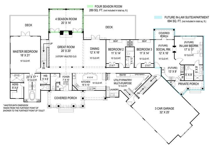 House Plan 9020 features a full in-law apartment with private front porch, laundry, bathroom, kitchen, and living room. There are plenty of other great features to this new home. Click here to view additional photos and floor plans: http://www.thehousedesigners.com/plan/pepperwood-9020/