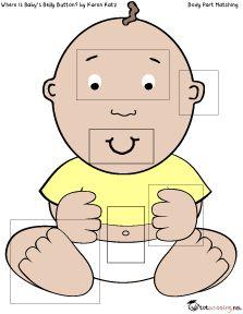 ¿Dónde está el ombligo del bebé ?: Actividad para imprimir gratis para niños pequeños