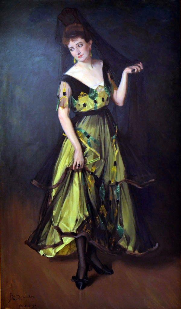 Portrait of Adela Carboné, 1916 - José Ramón Zaragoza (Asturias, Spain, 1874 - 1949)