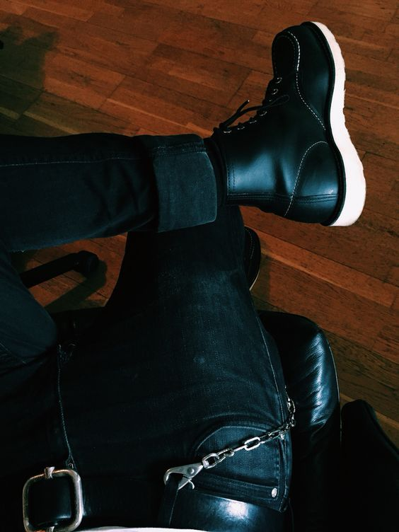 Red Wing Black Moc Toe 8130 Leather Boot