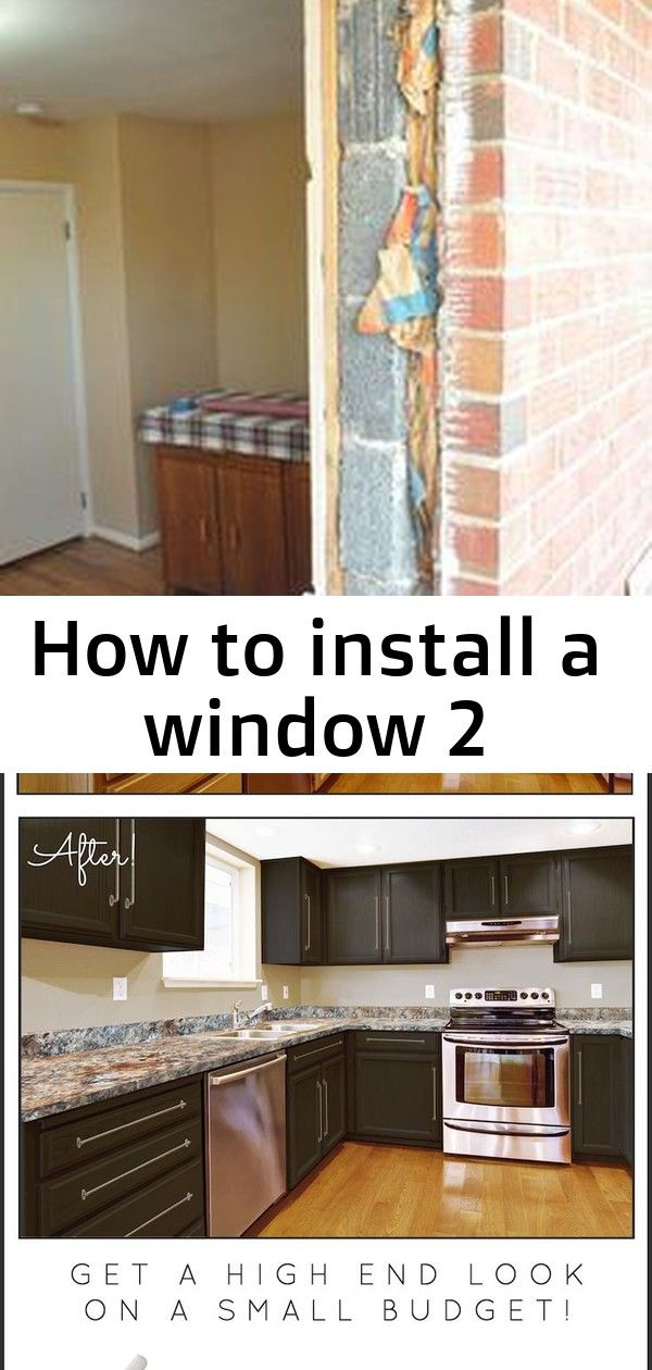 How To Install A Window Diy Kitchen Makeover On A Budget Before And After Giani Granite Countertop Paint With Images Kitchen Diy Makeover Diy Window Countertop Paint Kit