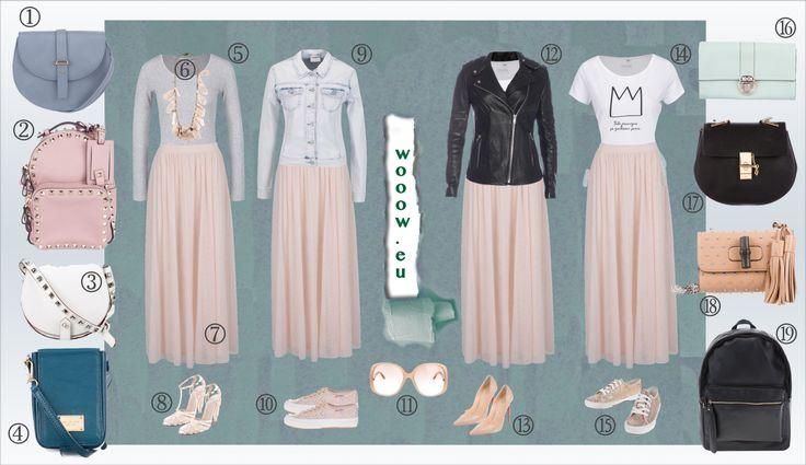 Dlhý ružová sukňa v májovej móde