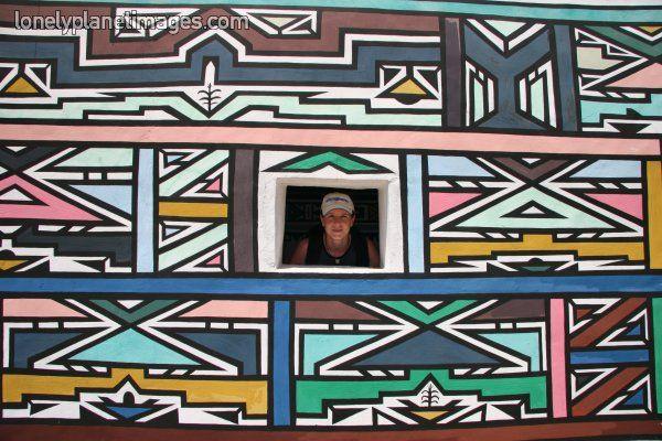 village Ndébélé Afrique du Sud
