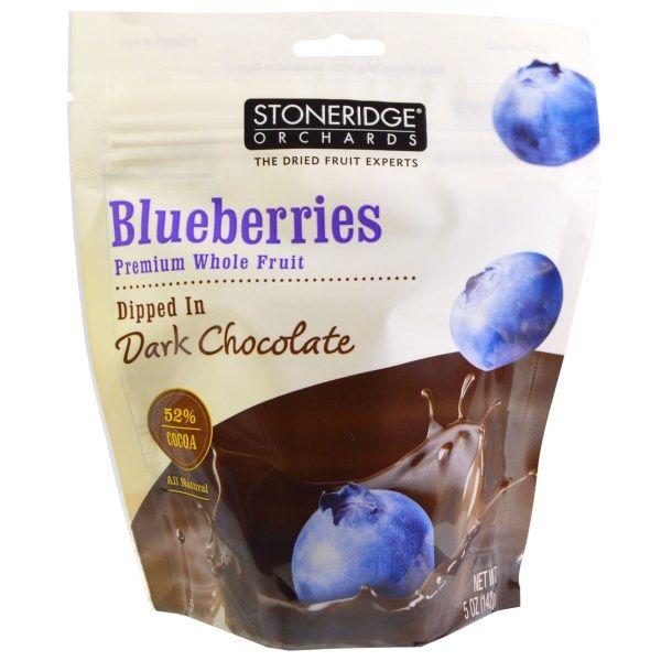 Stoneridge Orchards, Blueberries, Dipped in Dark Chocolate, 5 oz (142 g)