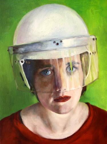 """Saatchi Art Artist Danielle ter Hofstede; Painting, """"Veiled IX"""" #art"""