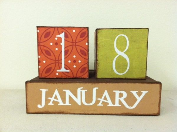 Unfinished Block Calendar Wood Craft. This craft costs $19.99.