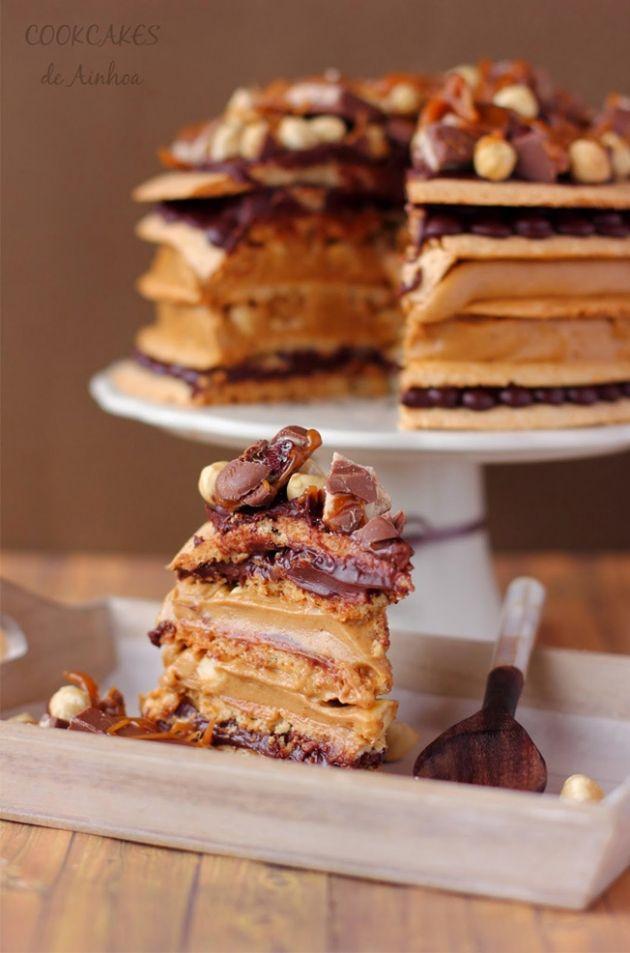 Dacquoise de chocolate y avellanas / http://cookcakesdeainhoa.blogspot.com.es/
