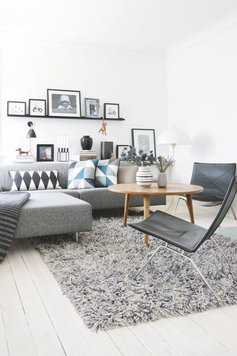 GREY IS THE NEW BLACK Contemporary Living Room Interior Design Decor Ideas Small Space Arrangement Bolig Magasinet