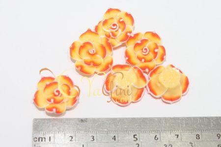 Aplikasi Clay Bunga Kecil 2cm - Orange Kuning - yagini.com - 085641416429 - 3