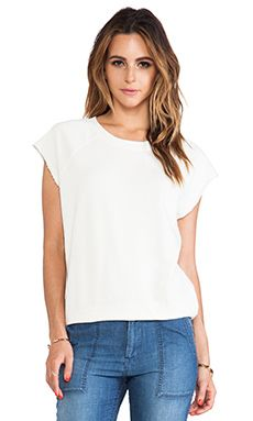 Ever Open Neck Sweatshirt In Vintage White WAS $98.48 NOW $52.60 http://www.richgurl.com/linkout/2086026