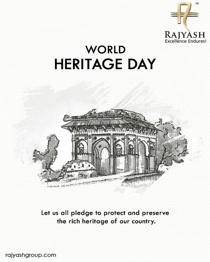 Let us all pledge to protect and preserve the rich heritage of our country. #WorldHeritageDay #RajYashGroup #RajYashCity #RajYash #SouthVasna #Ahmedabad