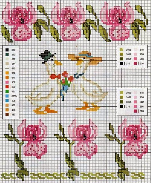 76 best cross stitch patterns flora fauna foilage images