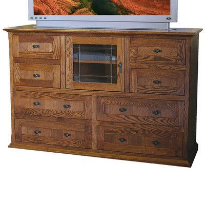 Forest Designs 8 Drawer TV Stand Finish: Antique Alder