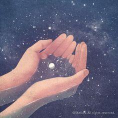 Estamos hechos de la misma materia inerte; del mismo polvo de estrellas, nebulosas, planetas y galaxias, todos somos uno mismo.❤