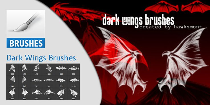 Dark Wings Brushes #Halloween