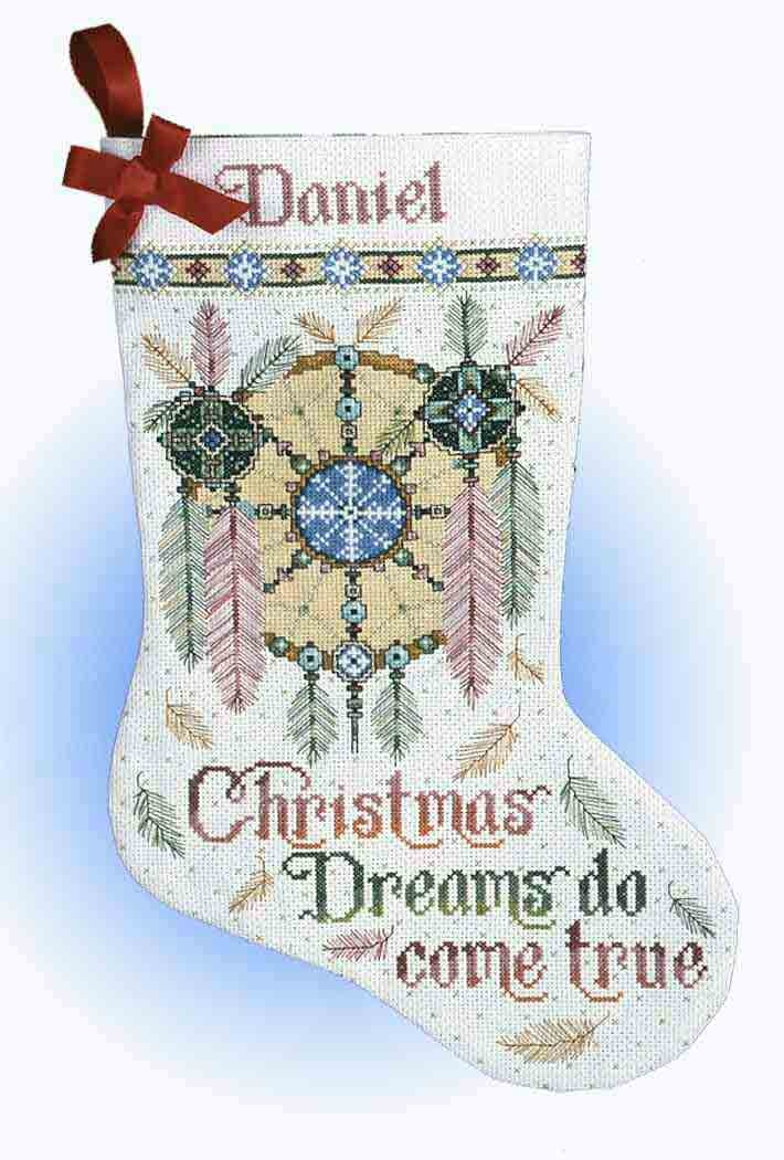 Design works counted crossstitch dreamcatcher stocking for Charles craft christmas stockings