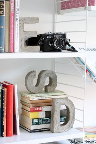 Diy concrete letters. plus links to more awesome concrete projects!!!!!