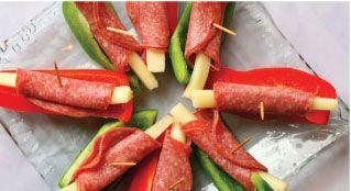Gluten Free Pepper Sticks with Paleo Dill Veggie Dip -- no cheese sticks.