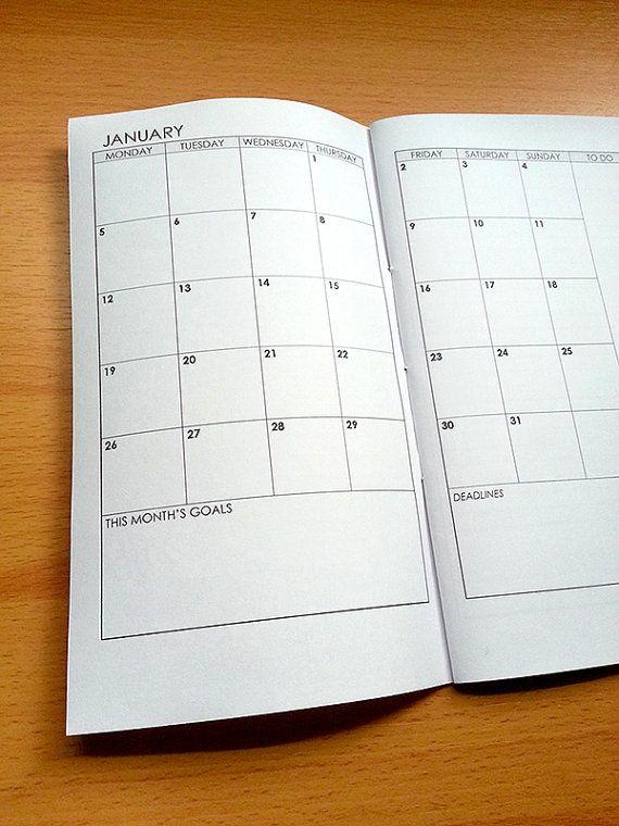 Midori Traveler S Notebook  Calendar