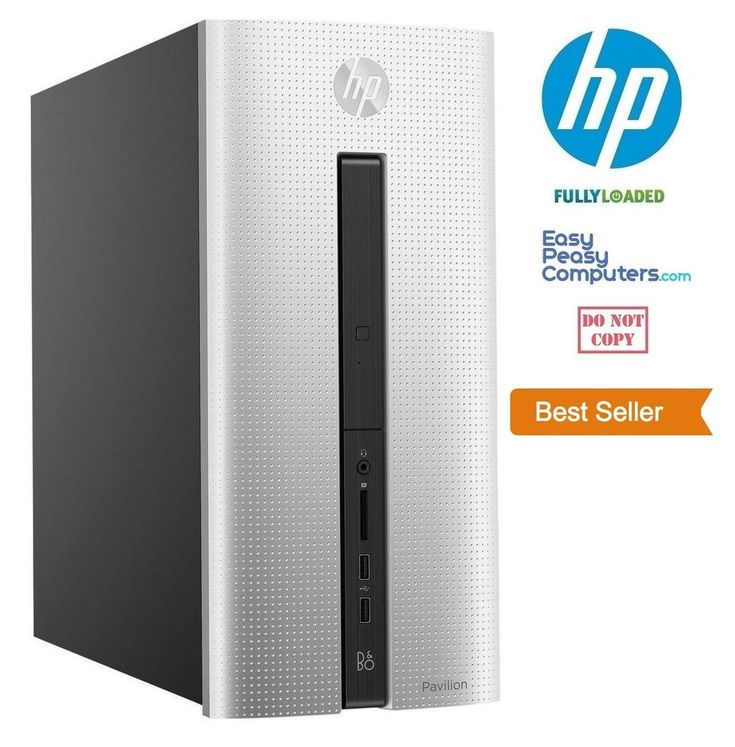 Computers for Sale - NEW HP Desktop Computer Fast Tower Windows 10 DVD+RW 8GB 1TB WiFi (FULLY LOADED) #HP