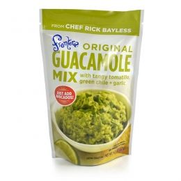 Frontera Guacamole Mix!  This stuff + 2 avocadoes = the BEST guacamole I have ever had!  Gluten-free too!
