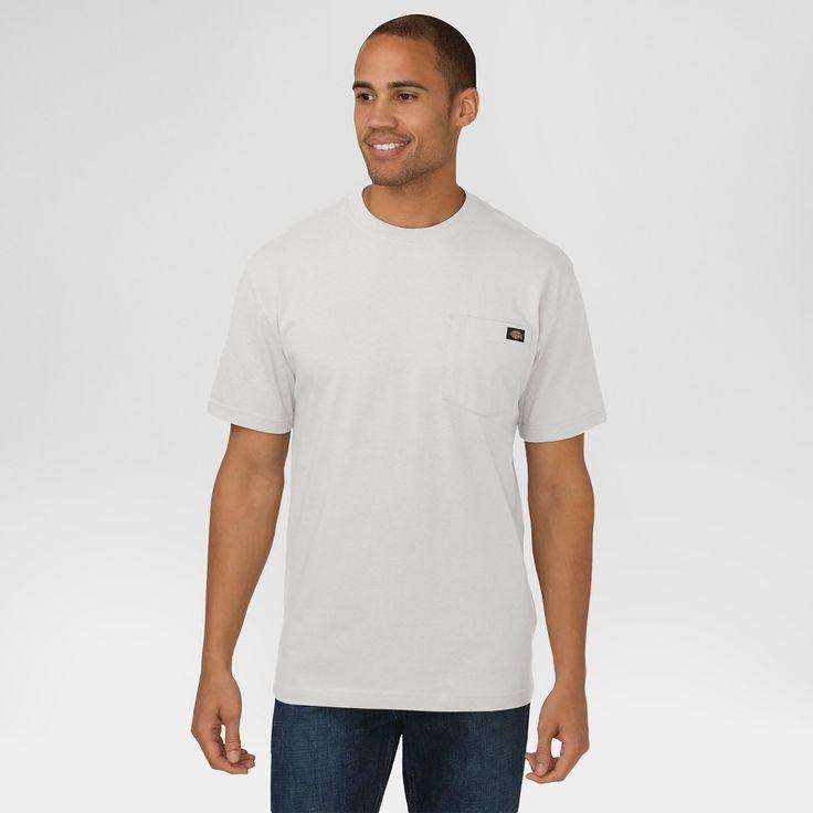 Dickies Men's Big & Tall Cotton Heavyweight Short Sleeve Pocket T-Shirt- Ash Gray Xxl Tall