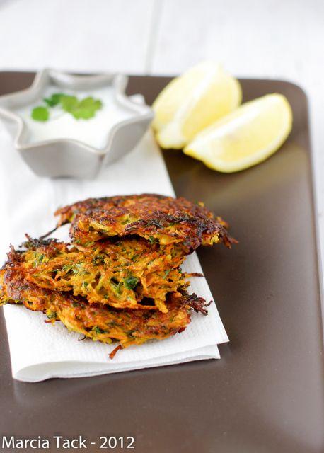 une recette de paillasses de carottes (ou crique) prafumée à la coriandre et au cumin pour des repas rapides et légers