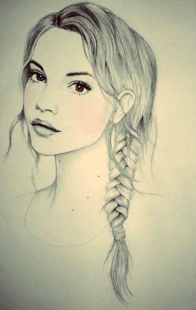 The girl with braid hair
