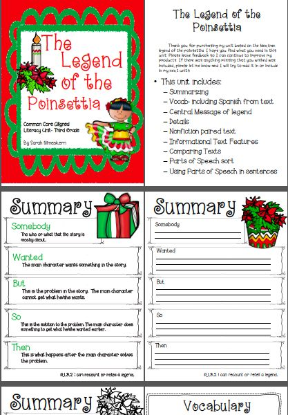 Literacy Unit for The Legend of the Poinsettia