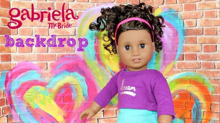 Doll Backdrop DIY | American Girl Doll Gabriela's Creative Studio Crafts