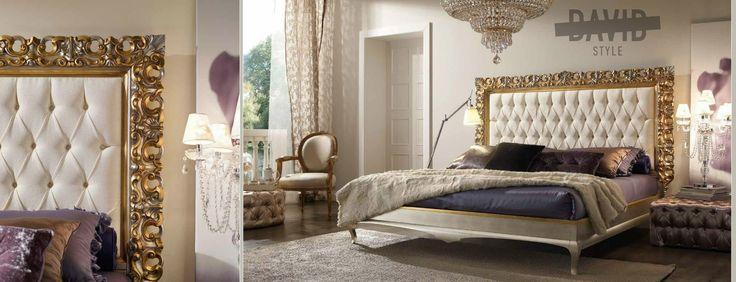 David Style for villas  Baroque bed frame   #baroquebed #lettobaroccocornice #bedframebaroque #baroquemadeinitaly
