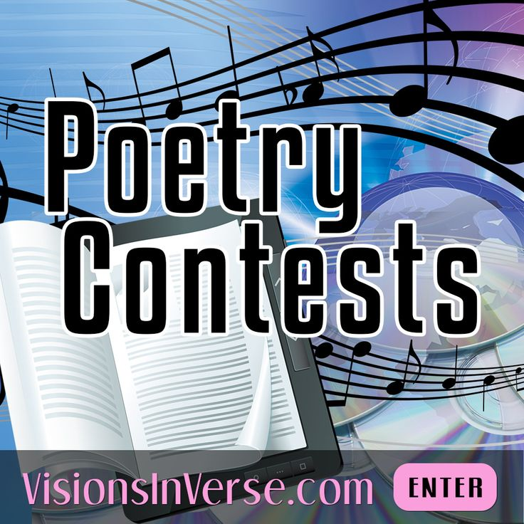 Whether you're a published poet, gifted songwriter or a student who loves writing poetry (in any style), you're welcome to compete and showcase your talent.  #PoetryContests