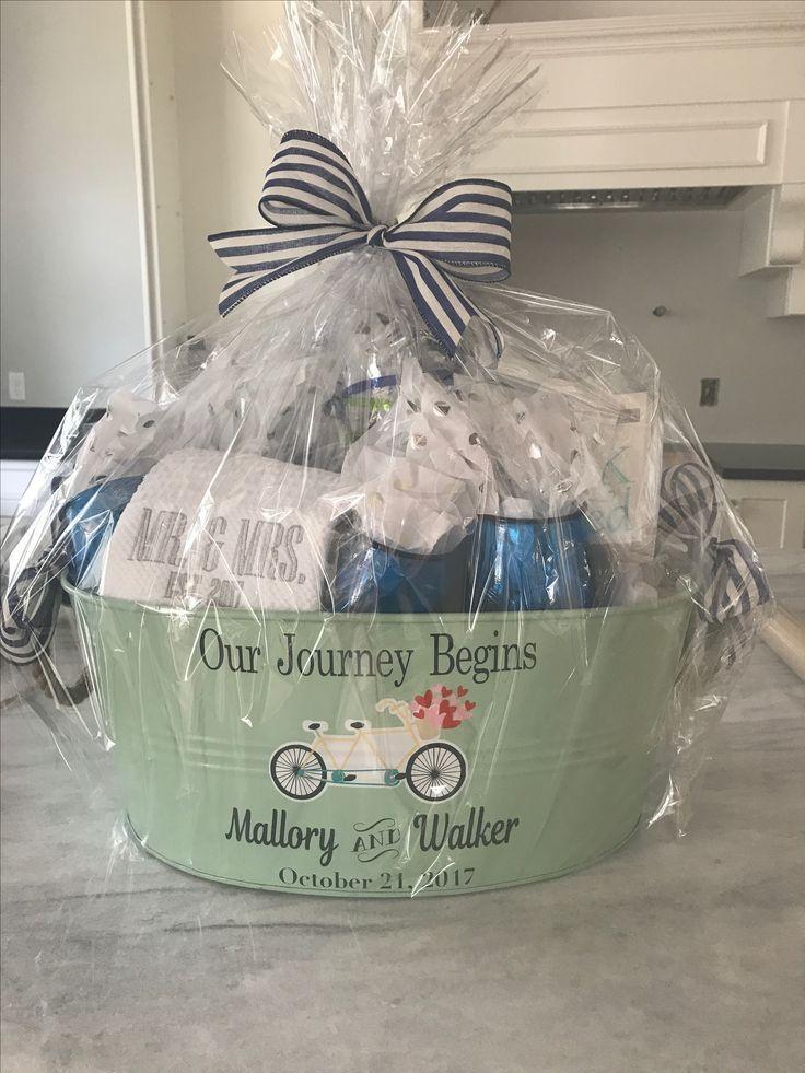 Diy Bridal Shower Gift Basket Our Journey Has Just Begun In 2020 Diy Bridal Shower Gifts Bridal Shower Diy Bridal Shower Gift Baskets