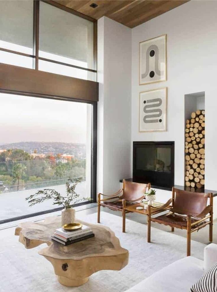 A Modern and Organic Living Room Makeover + Get The Look - Emily Henderson Decoration Restaurant, Decoration Table, Restaurant Design, Small Living Room Storage, Salon Simple, Living Room Furniture, Living Room Decor, Modern Living Rooms, Bedroom Decor