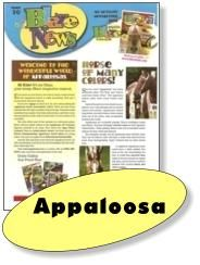 Fun with the Horse of Many Colors,   Appaloosa's. Downloadable Blaze News games and activities to learn about this breed. Great for birthday parties, teachers, riding instructors and horse crazy kids!