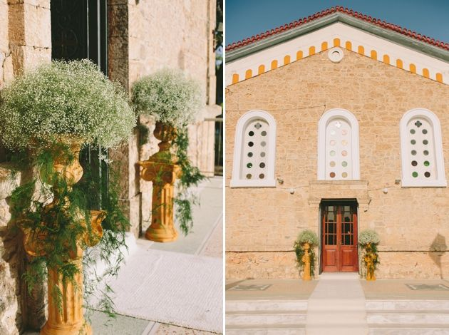 Ceremony Decor for Greek Orthodox Wedding  -a Wedding In Messinia by Stella & Moscha -Photography: Thanos Asfis