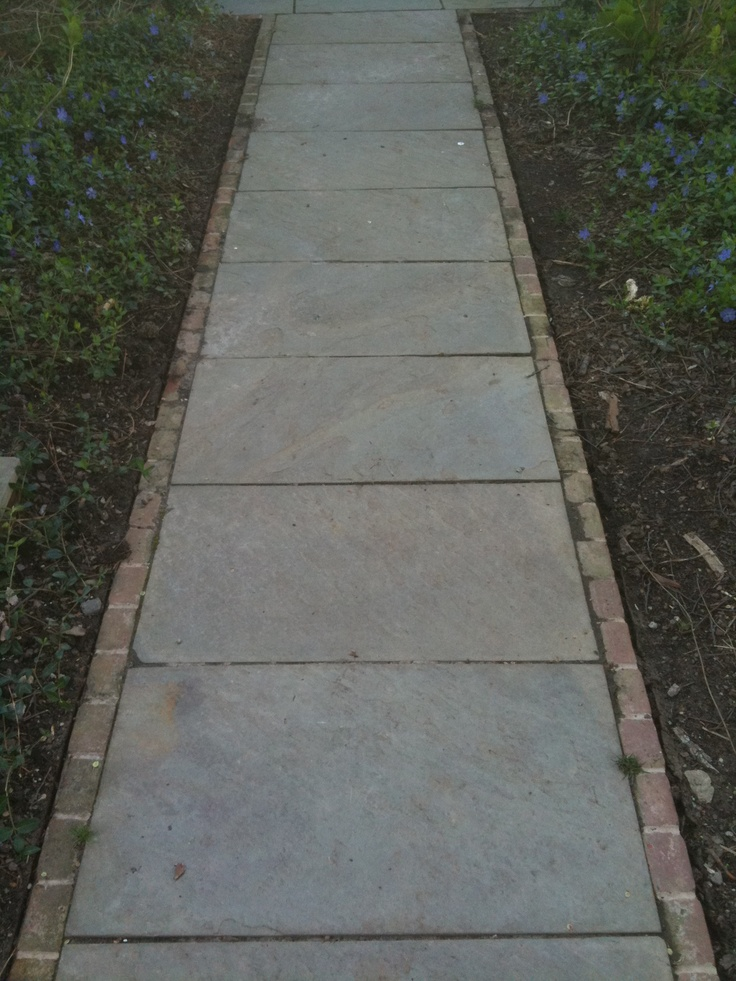 Brick And Flagstone Patio