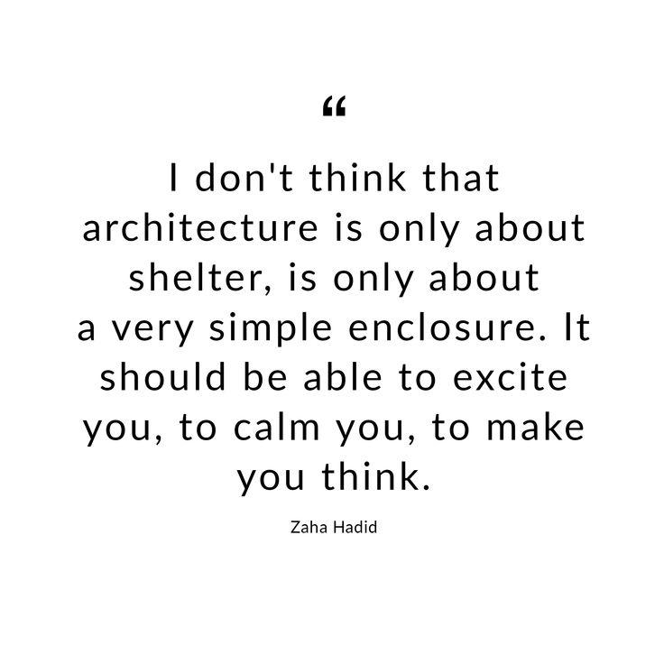 Quote by Zaha Hadid. #zahahadid #hadid #design #architecture #architect #architektur #architekt #quote #words #zitat #karlkaffenberger