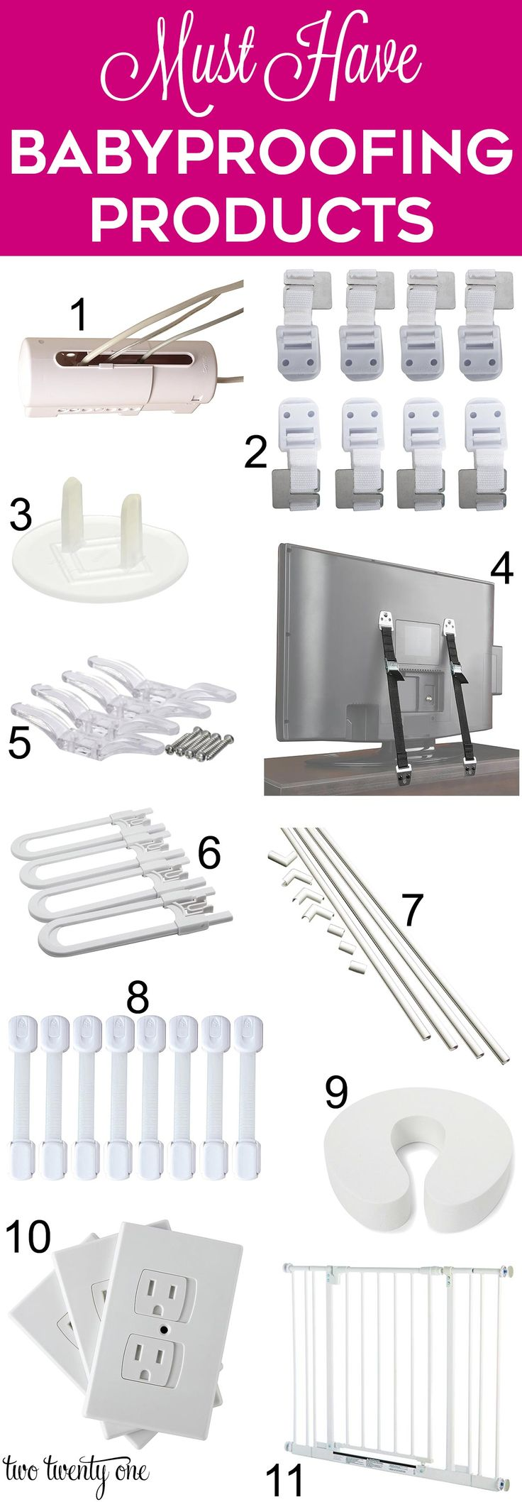 Must hand baby and toddler proofing products to have in your home!