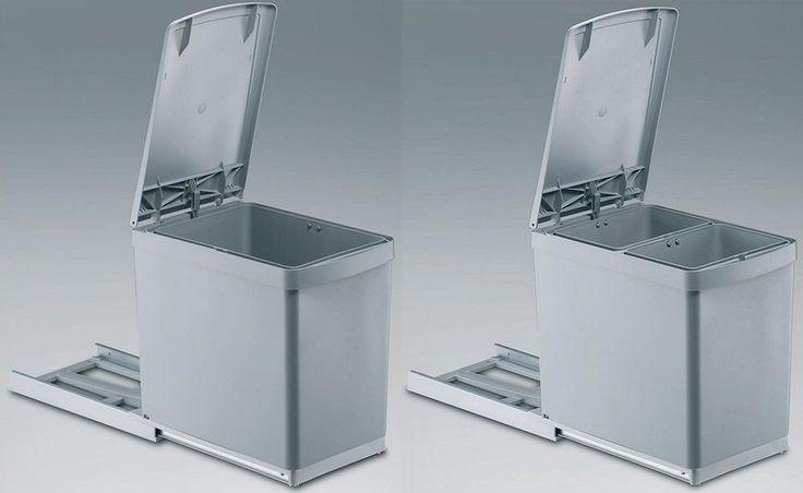 Einbau Abfallsammler 30DT, grau, Auzug Mülleimer, Abfalleimer, Handauszug, Wesco in Möbel & Wohnen, Haushalt, Müll- & Abfalleimer | eBay