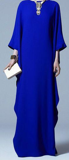 Beautiful blue evening hijab dress