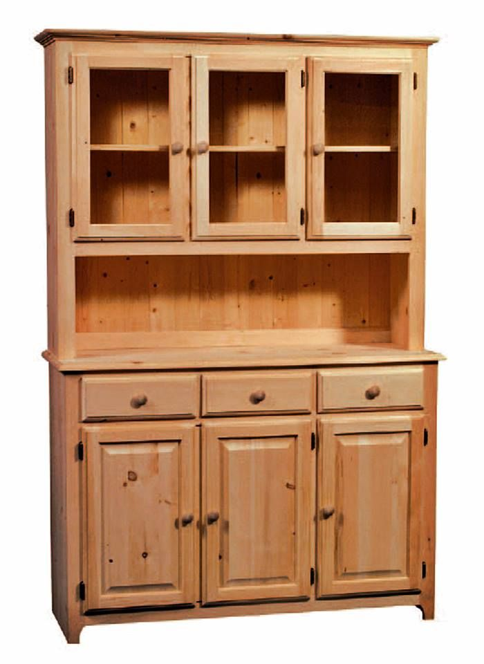 Unfinished Solid Radiata Pine 3 Drawer, 3 Door Buffet U0026 3 Door